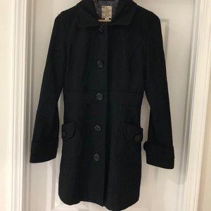 Women's Black Pea Coat